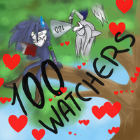 100 watchers by WolfiMoons