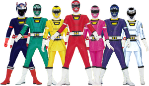Power Rangers Turbo Fan-Made Extended Team by Bilico86