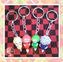 Chibi Fruits Keychains by Octopop-n-Aicing