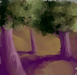 PaintingSketch3trees by Laughing-Dove