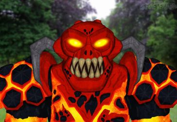 Nexo Knights: Burnzie the Magma Monster by TheOneVeyronian