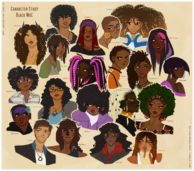Character Study: Black WoC by Beedalee-Art