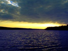 the lake and sky by Fu11Co11apse