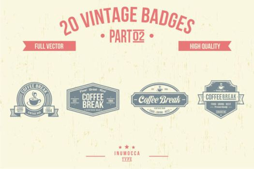 2O Vintage Badges by inumocca