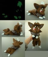 Glowing Shiny Zorua Plush by WhittyKitty