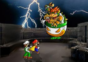 Bowser and his Clown Car by ChetRippo