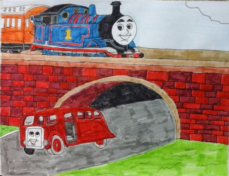 Thomas and Bertie's Great Race by JQroxks21