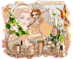 PinUp Toons - Happy Birthday by CreativeDesignOutlet