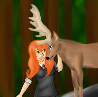 Lily and the Stag by Tetra-Zelda
