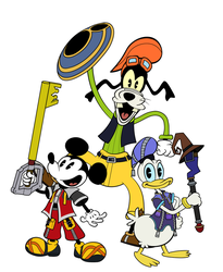 Mickey, Donald and Goofy - in Mickey Shorts style by kokoado