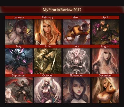 My 2017 Art Review by shizen1102
