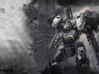 Armored Core Mirror and smoke by GetterDragon