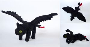 Toothless the night fury by LunasCrafts