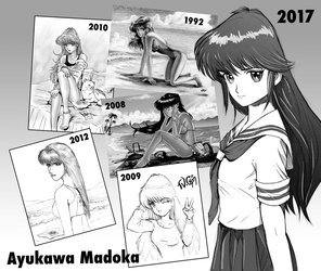 My Ayukawa Madoka over the years... by wayner8088