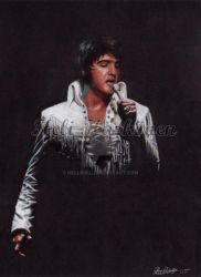 Elvis - 70's stage portrait by hellbull