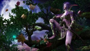 The wind in Astranaar(night elf) by BillyKingYeah