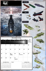 A: Dec 2014 Space Battleship Yamato 2199 calendar by TorinZece