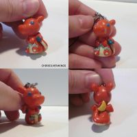 Charizard Charm by ChibiSilverWings