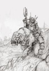 HillRider Pencil by bgarneau