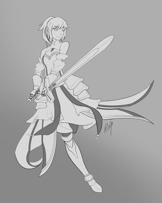3-13-17 Saber Lily WIP PNG by Patchy9