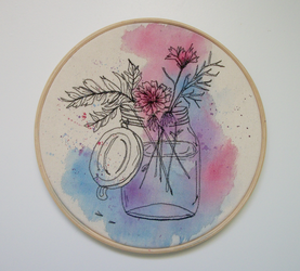 Flowers (embroidery) - parte II by ThaisMelo