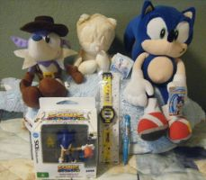 Assorted Sonic Merchandise by SEGAMew
