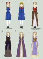 Prince Caspian: Remy's Outfits by HopeAndHeartache