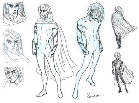 Noein: Karasu Sketches by purplerebecca