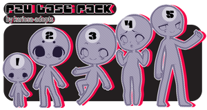 P2u Base 5 Pack by Kariosa-Adopts