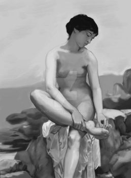 The-bather-1879-copy (FINAL GRAY) by vicmonty