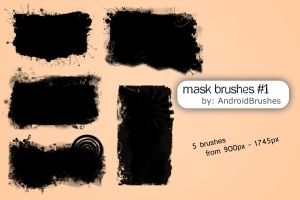 Mask Brushes - Set 1 by AndroidBrushes