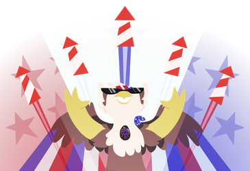 Freedom Chicken DTA gift art by Glowyshroom