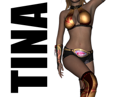 Tina Armstrong's Gold Outfit for Genesis 2 Female by sedartonfokcaj