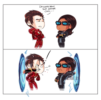 theFlash: PortalPunch by DarkLitria