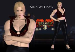 Nina Williams - TEKKEN 3 MOD - XPS Download by Pedro-Croft