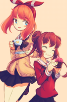 Tea and Cupcake by makaroll410