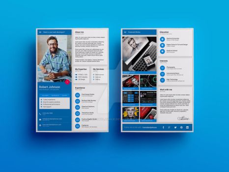 Material Design Resume / CV Template by iamvinyljunkie