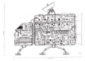 Concept sketch - Space Ship by Iddstar