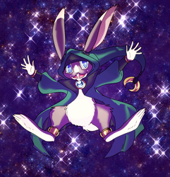small fuzzy space wizard by Spoonfayse