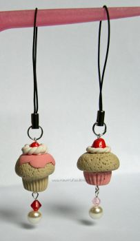 More Cupcake Phone Charms x by xoxRufus
