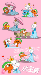 Princess Syndrome Collage (Vertical) by RadiumIven