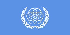 Flag of Earth - Concept Two (U.N. Flag style) by LanceShield
