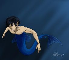 Merman by RaineKitty