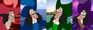 Color Spectrum Captain Hook by SelenaEde