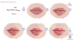 lips tutorial by mirukawa