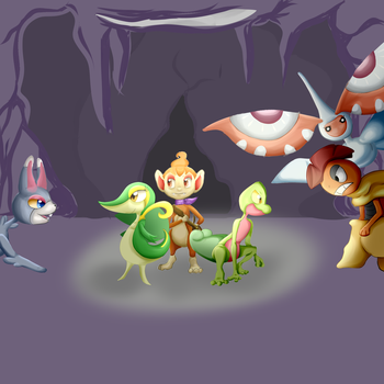 Mystery Dungeon fanfic cover (unfinished) by asami96