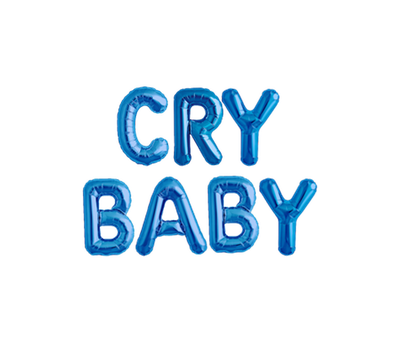 Cry Baby text - PNG by BleeashEditions
