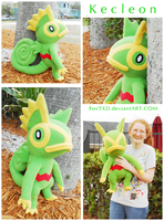 Giant Kecleon Plush by Fox7XD