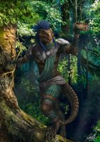Argonian Original Character Commission by Entar0178