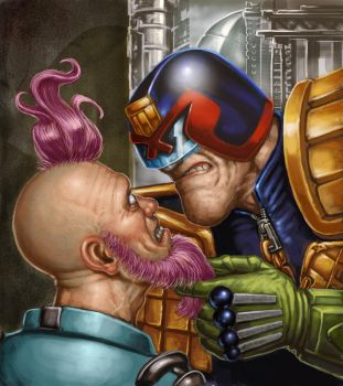 Judge Dredd by Hungrysparrow